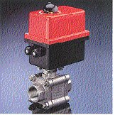 Triac Fire Safe Electric Actuated A/T 3pc Stainless Steel Threaded Full Port Ball Valve.